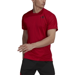 Men's Tennis Shirts adidas Freelift Primeblue TShirt  Scarlet/Black GQ8931