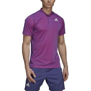 Polo Tenis Hombre adidas Freelift Primeblue Polo  Semi Night Flash/Scarlet GH7699