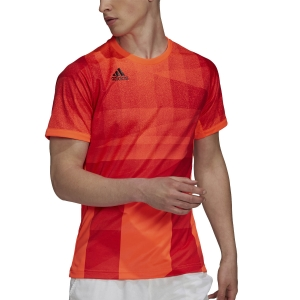 Men's Tennis Shirts adidas Freelift Tokyo TShirt  App Solar Red/Black H18184