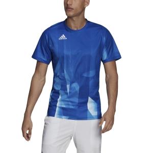 Men's Tennis Shirts adidas Freelift Tokyo TShirt  Collegiate Royal/White H13644