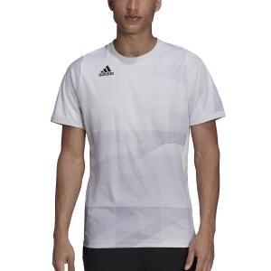 Men's Tennis Shirts adidas Freelift Tokyo TShirt  White/Dash Grey/Black H18183
