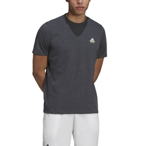 Men's Tennis Shirts adidas Graphic Logo AEROREADY TShirt  Dark Grey Heather GN8057
