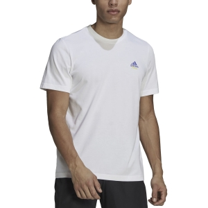 Men's Tennis Shirts adidas Graphic Logo AEROREADY TShirt  White GN8056