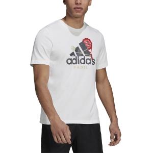 Maglietta Tennis Uomo adidas Graphic Maglietta  White GN8115