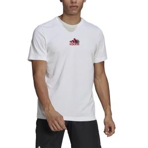 Camisetas de Tenis Hombre adidas Graphic AEROREADY Camiseta  White GN8065
