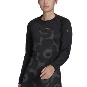 Maglie e Felpe Tennis Donna adidas Marimekko Coprispalle  Black/Gold Met GT6000