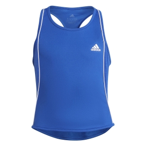 Top and Shirts Girl adidas Pop Up Tank Girl  Bold Blue/White GT6964