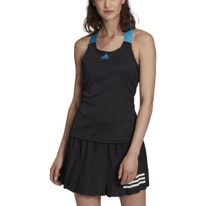 Women`s Tennis Tanks adidas Primeblue Aeroknit Tank  Black H31427