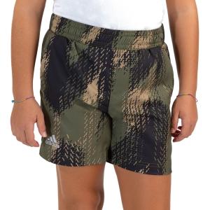 Pantalones Cortos  y Pantalones Boy adidas Primegreen 5in Shorts Nino  Beige Tone/Black/Focus Olive H22658