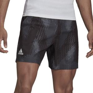 Pantalones Cortos Tenis Hombre adidas Printed 7in Shorts  Grey Five/Black GS4938