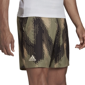 Pantalones Cortos Tenis Hombre adidas Printed 7in Shorts  Orbit Green/Ambient Blush GS4939