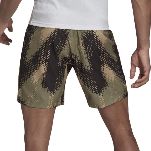 adidas Printed 7in Shorts - Orbit Green/Ambient Blush