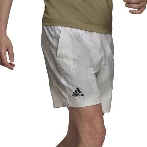 Pantalones Cortos Tenis Hombre adidas Printed 7in Shorts  White/Grey One H31377