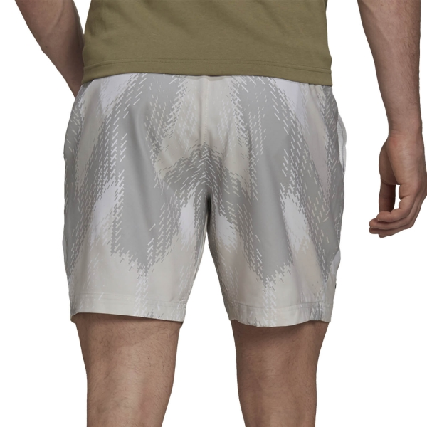 adidas Printed 7in Shorts - White/Grey One