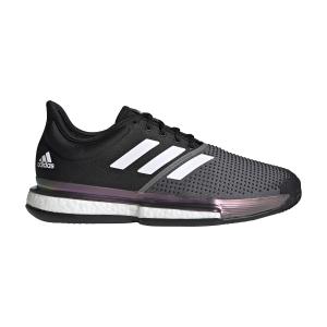 Men`s Tennis Shoes Adidas SoleCourt Primeblue Clay  Core Black/Ftwr White/Grey Five FZ1966