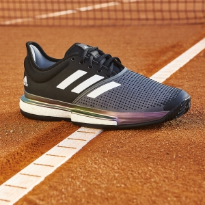 Adidas SoleCourt Primeblue Clay - Core Black/Ftwr White/Grey Five