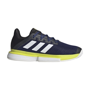 Calzado Tenis Hombre Adidas SoleMatch Bounce  Victory Blue/Ftwr White/Acid Yellow GY7645