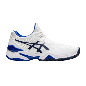 Women`s Tennis Shoes Asics Court FF 2 Clay  White/Lapis Lazuli Blue 1042A075103