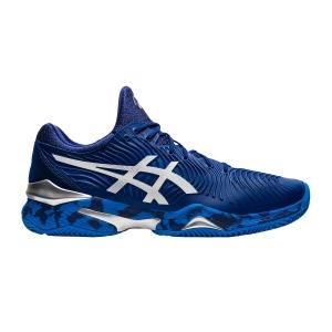 Men`s Tennis Shoes Asics Court FF Novak Clay  Blue Print/White 1041A090403