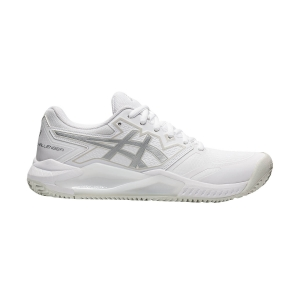 Women`s Tennis Shoes Asics Gel Challenger 13 Clay  White/Pure Silver 1042A165100