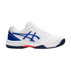 Women`s Tennis Shoes Asics Gel Dedicate 7 Clay  White/Lapis Lazuli Blue 1042A168101