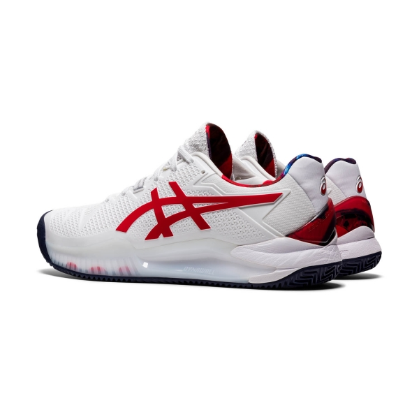 Asics Gel Resolution 8 Clay L.E. - White/Classic Red