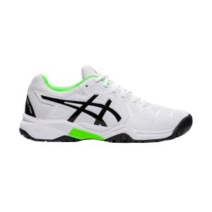 Junior Tennis Shoes Asics Gel Resolution 8 Clay GS Junior  White/Green Gecko 1044A019105