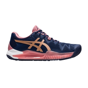Scarpe Tennis Donna Asics Gel Resolution 8 Clay  Peacoat/Rose Gold 1042A070404