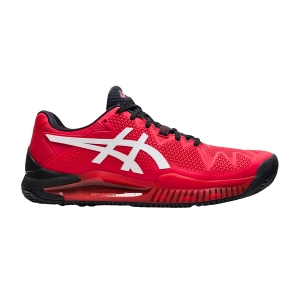 Men`s Tennis Shoes Asics Gel Resolution 8 Clay  Electric Red/White 1041A076601