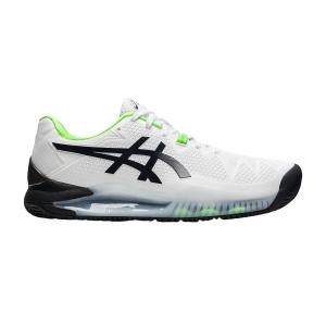Men`s Tennis Shoes Asics Gel Resolution 8 Clay  White/Green Gecko 1041A076105
