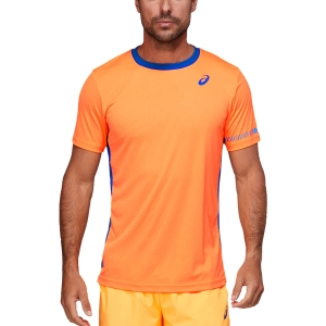 Camisetas de Tenis Hombre Asics Logo Camiseta  Orange Pop/Monaco Blue 2041A166801
