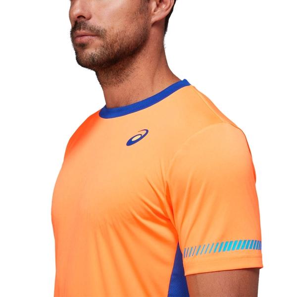 Asics Logo T-Shirt - Orange Pop/Monaco Blue