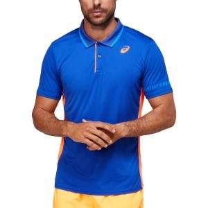 Polo Tenis Hombre Asics Logo Polo  Monaco Blue/Orange Pop 2041A163408