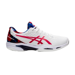 Men`s Tennis Shoes Asics Solution Speed FF 2 Clay L.E.  White/Classic Red 1041A287110