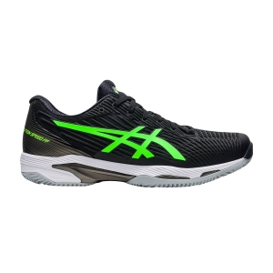 Men`s Tennis Shoes Asics Solution Speed FF 2 Clay  Black/Green Gecko 1041A187003