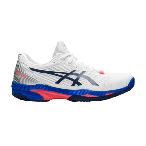 Scarpe Tennis Donna Asics Solution Speed FF 2 Clay  White/Peacoat 1042A134102
