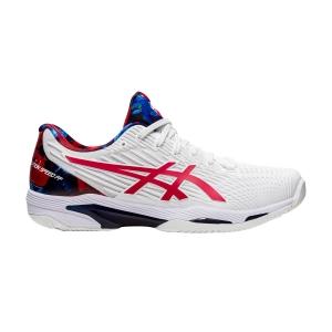 Calzado Tenis Hombre Asics Solution Speed FF 2 L.E.  White/Classic Red 1041A286110