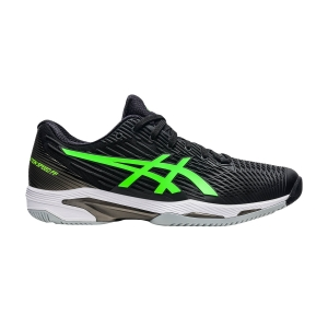 Scarpe Tennis Uomo Asics Solution Speed FF 2  Black/Green Gecko 1041A182003