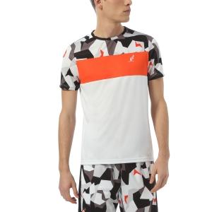 Men's Tennis Shirts Australian Ace Camo TShirt  Bianco TEUTS0012002