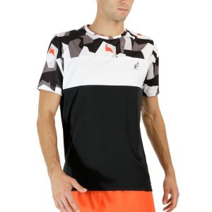 Men's Tennis Shirts Australian Ace Camo TShirt  Nero TEUTS0012003