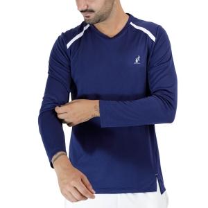 Maglie e Felpe Tennis Uomo Australian Ace Logo Maglia  Blu Cosmo TEUTS0035842