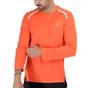 Men's Tennis Shirts and Hoodies Australian Ace Logo Shirt  Lava TEUTS0035149