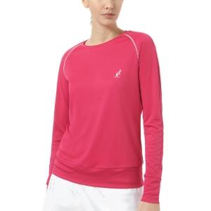 Women's Tennis Shirts and Hoodies Australian Ace Shirt  Magenta TEDTS0019414