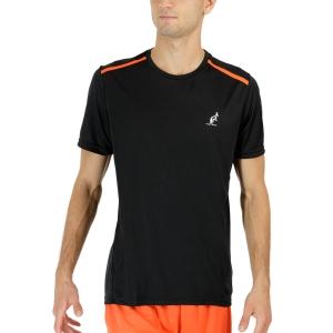 Men's Tennis Shirts Australian Ace TShirt  Nero/Orange TEUTS0002003B