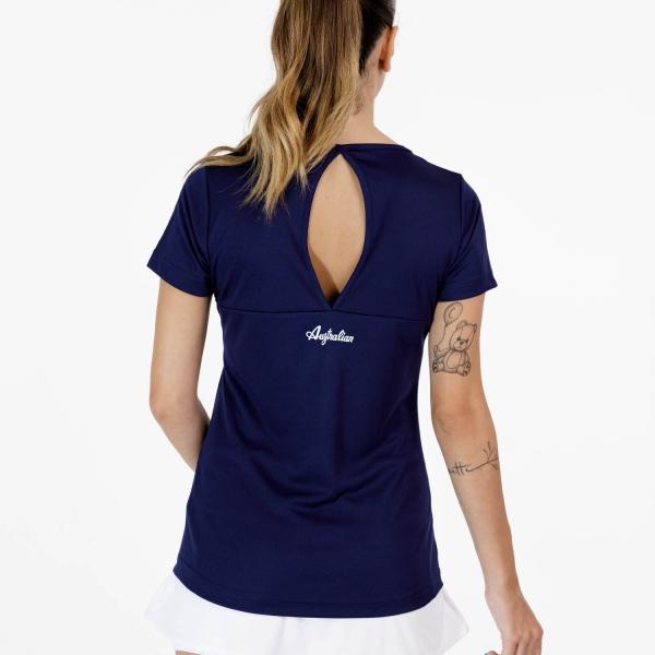 Australian Ace Open T-Shirt - Blu Cosmo