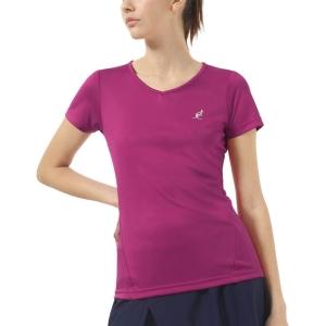 Camisetas y Polos de Tenis Mujer Australian Ace Open Camiseta  Magenta TEDTS0008414