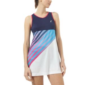 Vestito da Tennis Australian Ace Print Vestito  Blu Cosmo TEDAB0003842
