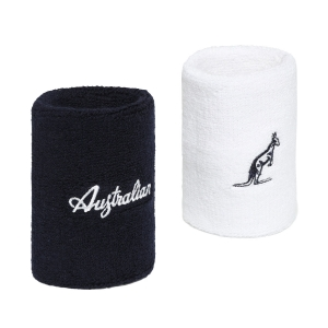Tennis Wristbands Australian Logo Large Wristbands  Bianco/Blu TEXPS0008002200