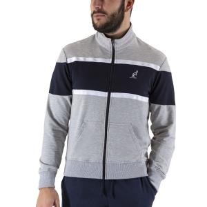 Men's Tennis Shirts and Hoodies Australian Color Block Sweatshirt  Heather Grey/Blue LSUGC0008101