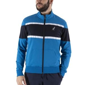 Men's Tennis Shirts and Hoodies Australian Color Block Sweatshirt  Teal Green/Navy Blue LSUGC0008335